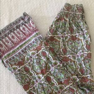 Boho O'Neill Wide Leg Beach Pants Sz M